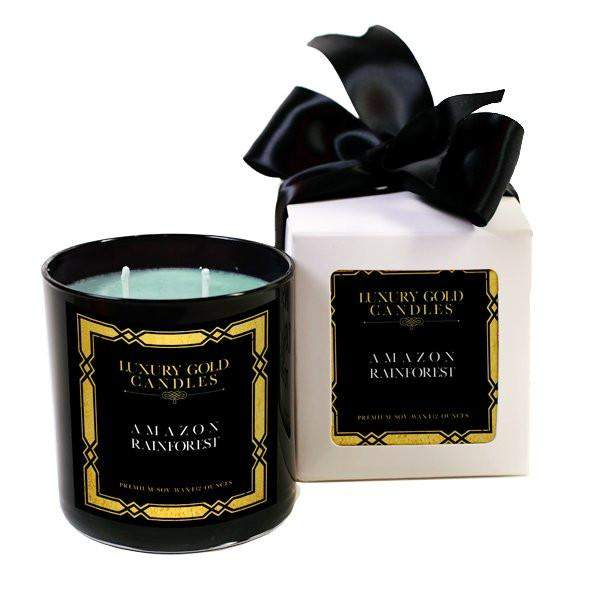 Amazon Rainforest Gold Luxury Candles-Luxury Gold Candle-The Official Website of Jewelry Candles - Find Jewelry In Candles!