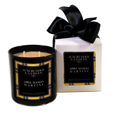 Apple Mango Martini Luxury Gold Candles-Luxury Gold Candle-The Official Website of Jewelry Candles - Find Jewelry In Candles!