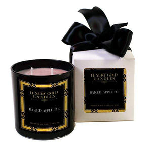 Baked Apple Pie Luxury Gold Candles-Luxury Gold Candle-The Official Website of Jewelry Candles - Find Jewelry In Candles!