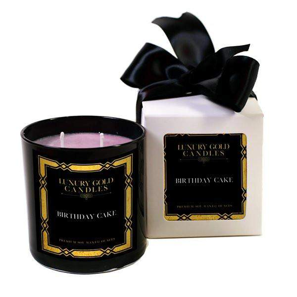 Birthday Cake Luxury Gold Candles-Luxury Gold Candle-The Official Website of Jewelry Candles - Find Jewelry In Candles!