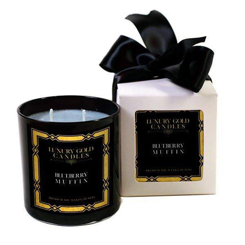 Blueberry Muffin Luxury Gold Candles-Luxury Gold Candle-The Official Website of Jewelry Candles - Find Jewelry In Candles!
