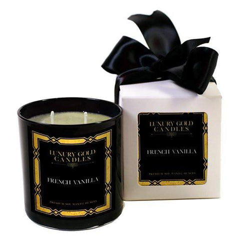 French Vanilla Luxury Gold Candles-Luxury Gold Candle-The Official Website of Jewelry Candles - Find Jewelry In Candles!