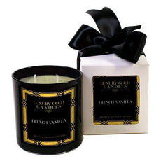 French Vanilla Luxury Gold Candles