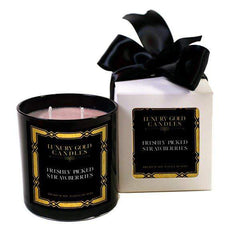 Strawberry Fields Luxury Gold Candles
