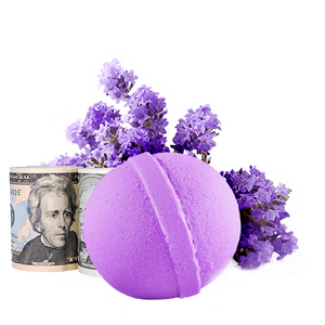 Lavender | Single Cash Bath Bomb®-Cash Bath Bombs-The Official Website of Jewelry Candles - Find Jewelry In Candles!