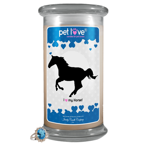 I Love My Horse! | Pet Love Candle®-Pet Love®-The Official Website of Jewelry Candles - Find Jewelry In Candles!
