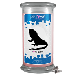 I Love My Iguana! | Pet Love Candle®-Pet Love®-The Official Website of Jewelry Candles - Find Jewelry In Candles!