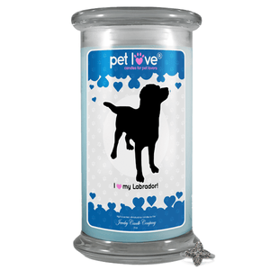 I Love My Labrador! | Pet Love Candle®-Pet Love®-The Official Website of Jewelry Candles - Find Jewelry In Candles!