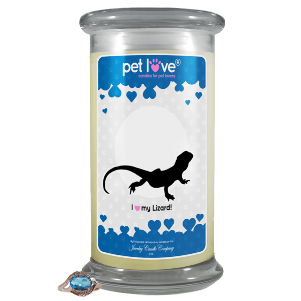 I Love My Lizard! | Pet Love Candle®-Pet Love®-The Official Website of Jewelry Candles - Find Jewelry In Candles!