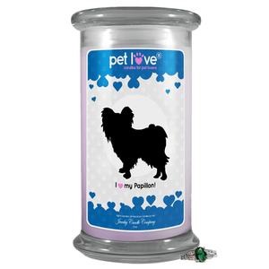 I Love My Papillon! | Pet Love Candle®-Pet Love®-The Official Website of Jewelry Candles - Find Jewelry In Candles!