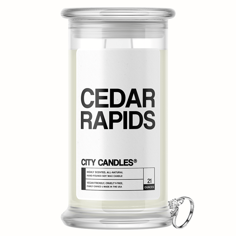Cedar Rapids City Jewelry Candle