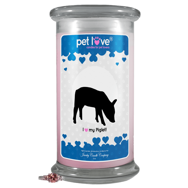 I Love My Piglet! | Pet Love Candle®-Pet Love®-The Official Website of Jewelry Candles - Find Jewelry In Candles!