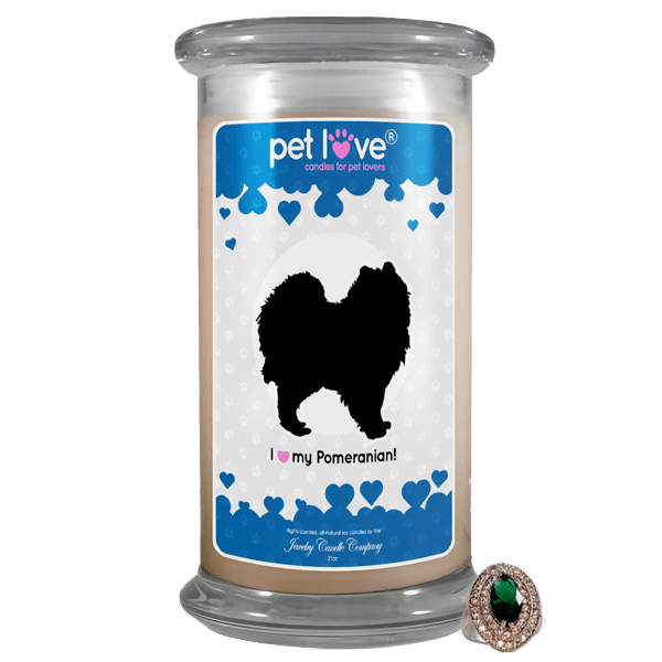 I love my Pomeranian! | Pet Love Candle®-Pet Love®-The Official Website of Jewelry Candles - Find Jewelry In Candles!