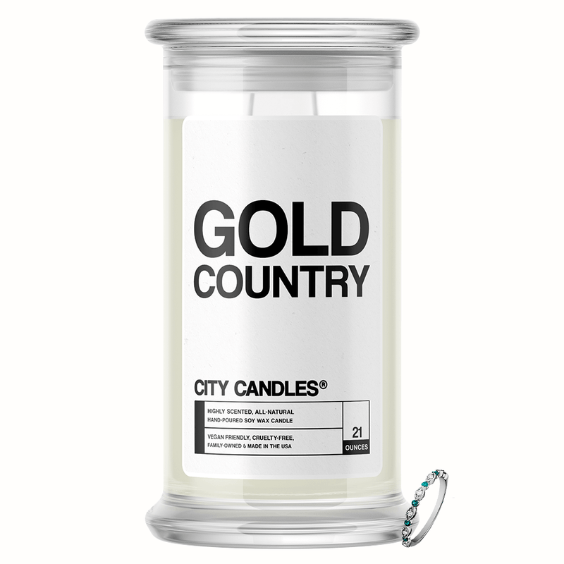Gold Country City Jewelry Candle