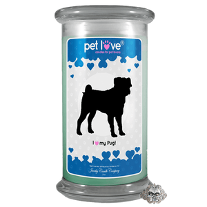 I Love My Pug! | Pet Love Candle®-Pet Love®-The Official Website of Jewelry Candles - Find Jewelry In Candles!