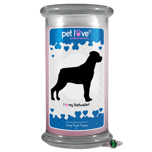 I Love My Rottweiler! | Pet Love Candle®-Pet Love®-The Official Website of Jewelry Candles - Find Jewelry In Candles!