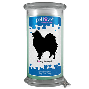 I love my Samoyed! | Pet Love Candle®-Pet Love®-The Official Website of Jewelry Candles - Find Jewelry In Candles!