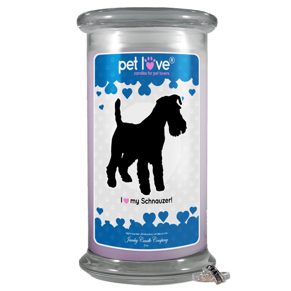I Love My Schnauzer! | Pet Love Candle®-Pet Love®-The Official Website of Jewelry Candles - Find Jewelry In Candles!