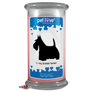 I love my Scottish Terrier! | Pet Love Candle®-Pet Love®-The Official Website of Jewelry Candles - Find Jewelry In Candles!