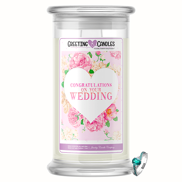 Congratulations On Your Wedding Jewelry Greeting Candle