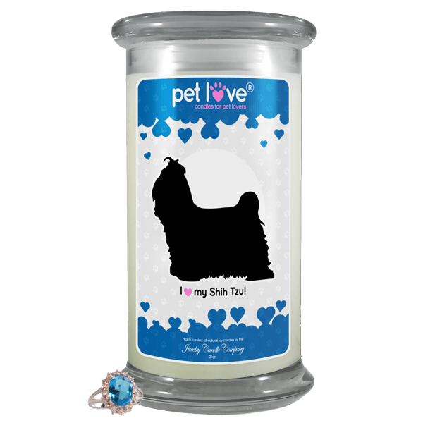 I Love My Shih Tzu! | Pet Love Candle®-Pet Love®-The Official Website of Jewelry Candles - Find Jewelry In Candles!