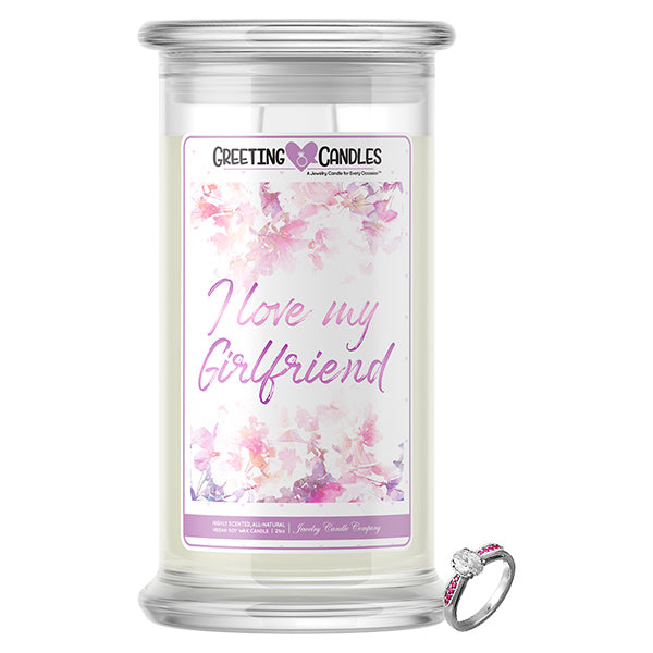 I Love My Girlfriend | Jewelry Greeting Candle