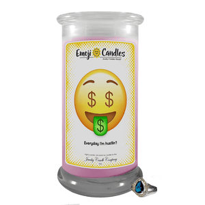 Everyday I'm hustlin'! | Emoji Candle®-Emoji Candles-The Official Website of Jewelry Candles - Find Jewelry In Candles!