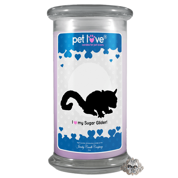 To My Love Jewelry Greeting Candle