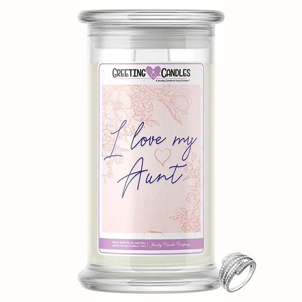 I Love My Aunt! | Jewelry Greeting Candles