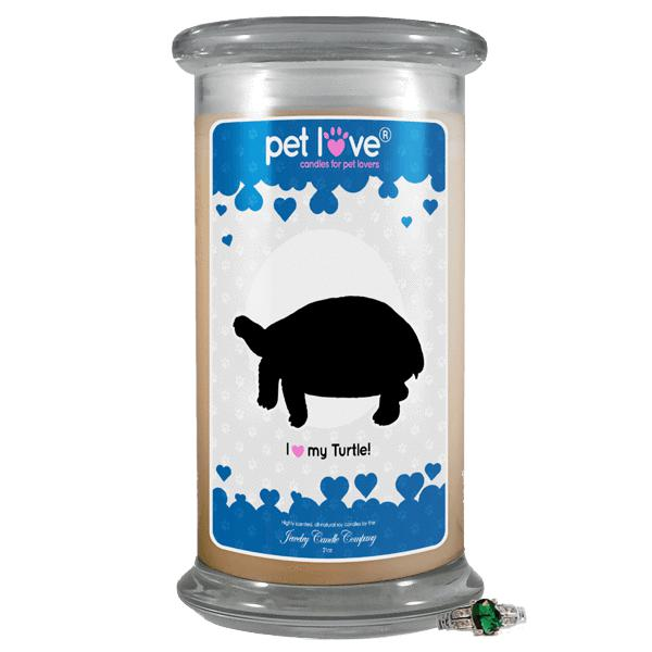 I Love My Turtle! | Pet Love Candle®-Pet Love®-The Official Website of Jewelry Candles - Find Jewelry In Candles!
