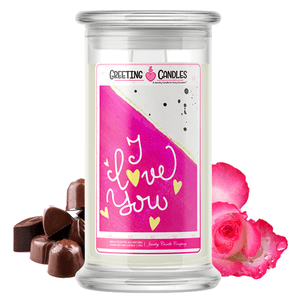 I Love You | Valentine's Day Jewelry Greeting Candle-Valentine's Day Jewelry Greeting Candles-The Official Website of Jewelry Candles - Find Jewelry In Candles!