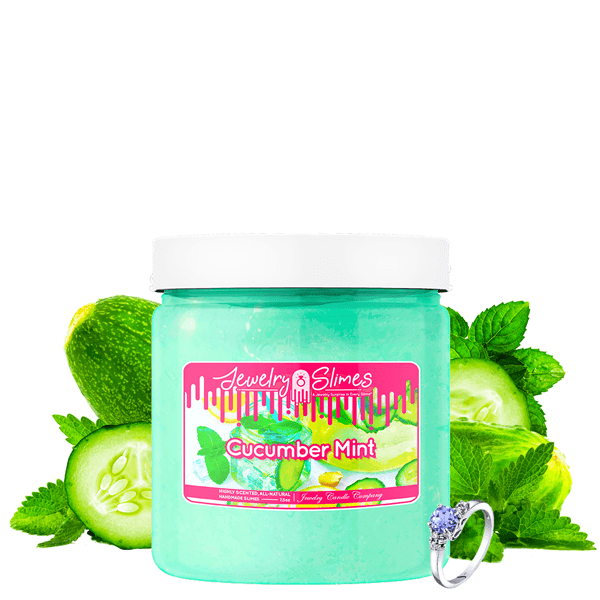 Cucumber Mint | Jewelry Slime®-Jewelry Slime | A Jewelry Surprise In Every Jar of Slime-The Official Website of Jewelry Candles - Find Jewelry In Candles!