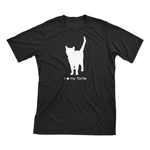 I Love My Tortie | Must Love Cats® White On Black Short Sleeve T-Shirt-Must Love Cats® T-Shirts-The Official Website of Jewelry Candles - Find Jewelry In Candles!