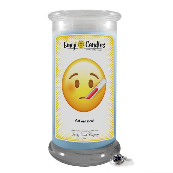 Get Well Soon! | Emoji Candle®-Emoji Candles-The Official Website of Jewelry Candles - Find Jewelry In Candles!