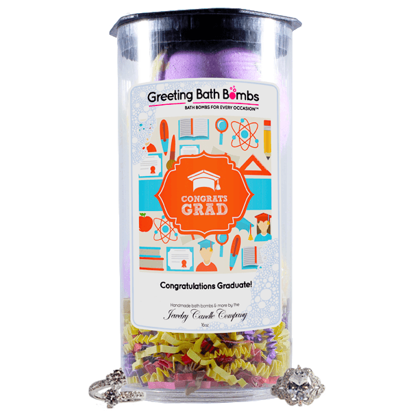 Congratulations Grad! | Greeting Bath Bombs®-Jewelry Bath Bombs-The Official Website of Jewelry Candles - Find Jewelry In Candles!