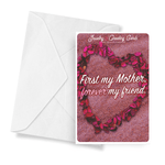 First My Mother, Forever My Friend | Mother's Day Jewelry Greeting Cards®-Jewelry Greeting Cards-The Official Website of Jewelry Candles - Find Jewelry In Candles!