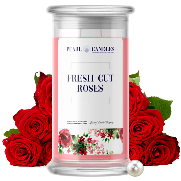 Fresh Cut Roses | Pearl Candle®-Pearl Candles®-The Official Website of Jewelry Candles - Find Jewelry In Candles!