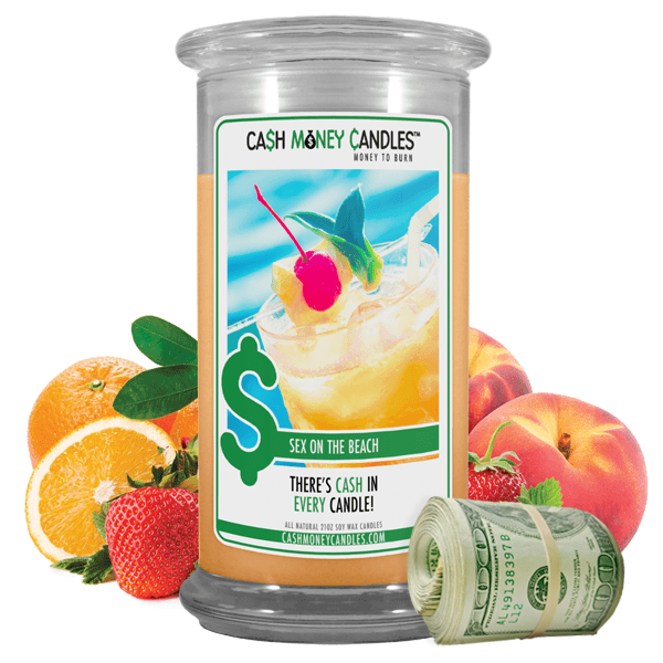 Sex on the Beach | Cash Money Candle®-Cash Money Candles®-The Official Website of Jewelry Candles - Find Jewelry In Candles!