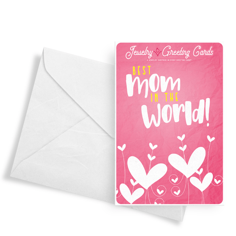 Best Mom In The World! | Jewelry Greeting Cards®-Jewelry Greeting Cards-The Official Website of Jewelry Candles - Find Jewelry In Candles!