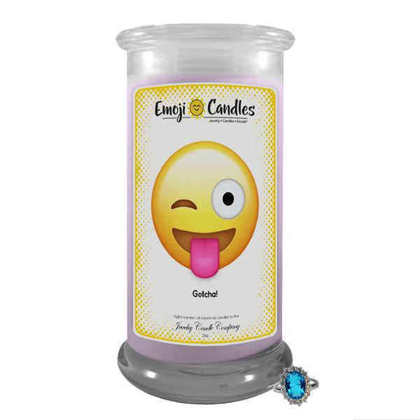 Gotcha! | Emoji Candle®-Emoji Candles-The Official Website of Jewelry Candles - Find Jewelry In Candles!