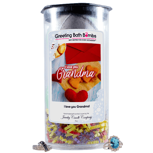 I love you Grandma! | Greeting Bath Bombs®-Jewelry Bath Bombs-The Official Website of Jewelry Candles - Find Jewelry In Candles!