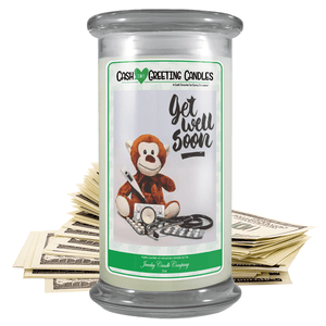 Get Well Soon | Cash Greeting Candle-Cash Greeting Candles-The Official Website of Jewelry Candles - Find Jewelry In Candles!