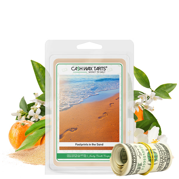 Footprints In The Sand | Cash Wax Melt-Cash Wax Melts-The Official Website of Jewelry Candles - Find Jewelry In Candles!
