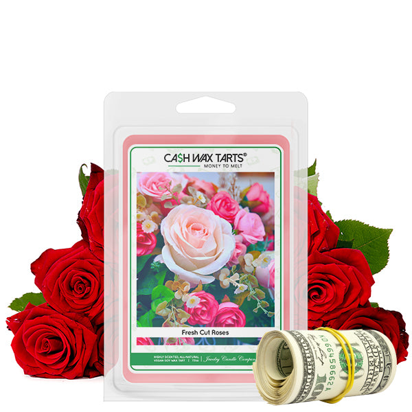 Fresh Cut Roses | Cash Wax Melt-Cash Wax Melts-The Official Website of Jewelry Candles - Find Jewelry In Candles!