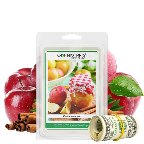 Cinnamon Apple | Cash Wax Melt-Cash Wax Melts-The Official Website of Jewelry Candles - Find Jewelry In Candles!