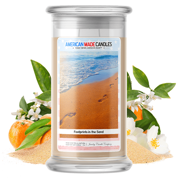 Footprints in the Sand | American Made Candle®-American Made Candles | Family Owned. American Made. Jewelry Candles-The Official Website of Jewelry Candles - Find Jewelry In Candles!