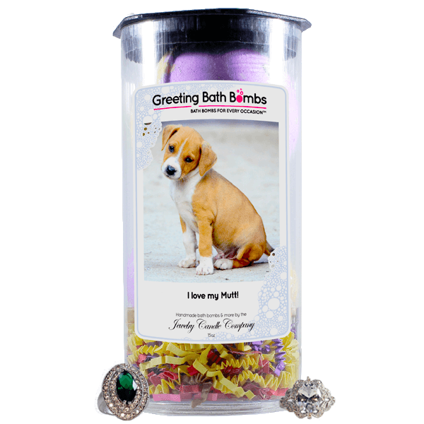 I Love My Mutt! | Greeting Bath Bombs®-Jewelry Bath Bombs-The Official Website of Jewelry Candles - Find Jewelry In Candles!