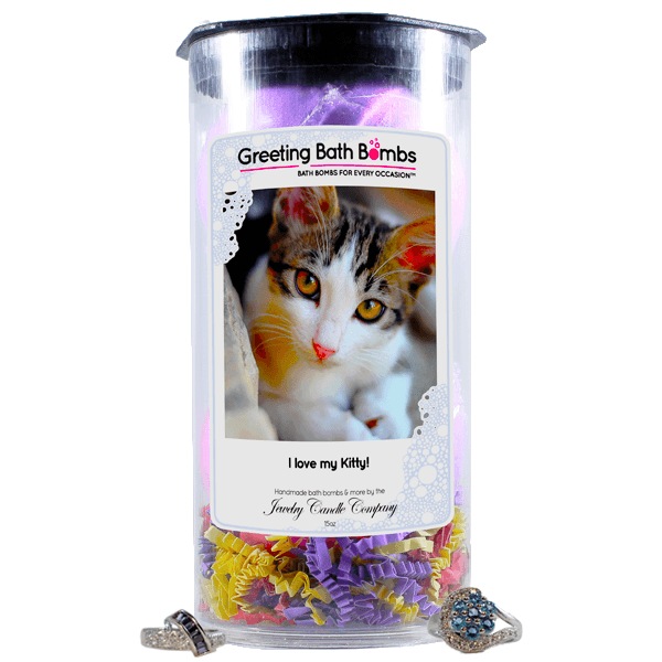 I love my Kitty! | Greeting Bath Bombs®-Jewelry Bath Bombs-The Official Website of Jewelry Candles - Find Jewelry In Candles!