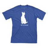 I Love My Bengal | Must Love Cats® White On Heathered Royal Blue Short Sleeve T-Shirt-Must Love Cats® T-Shirts-The Official Website of Jewelry Candles - Find Jewelry In Candles!