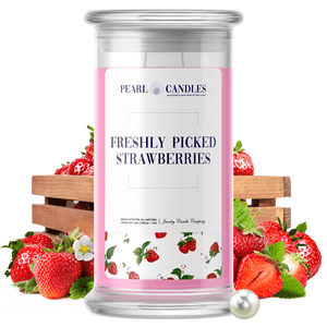 Freshly Picked Strawberries | Pearl Candle®-Pearl Candles®-The Official Website of Jewelry Candles - Find Jewelry In Candles!